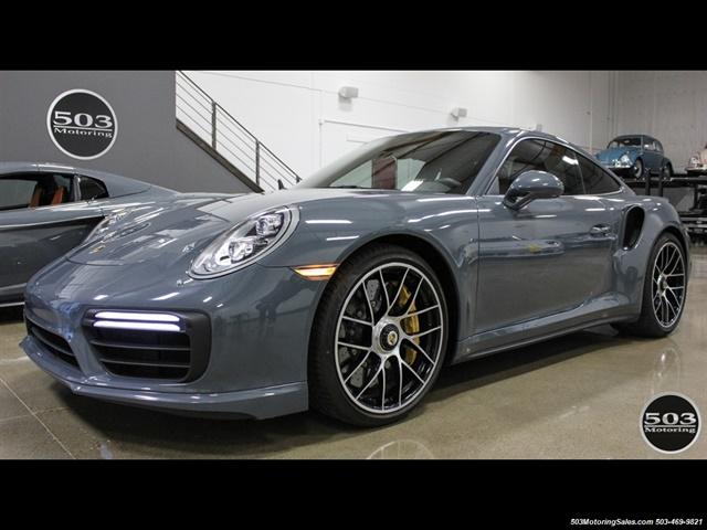 2017 Porsche 911 Turbo S Graphite Blue Black Perfect Spec