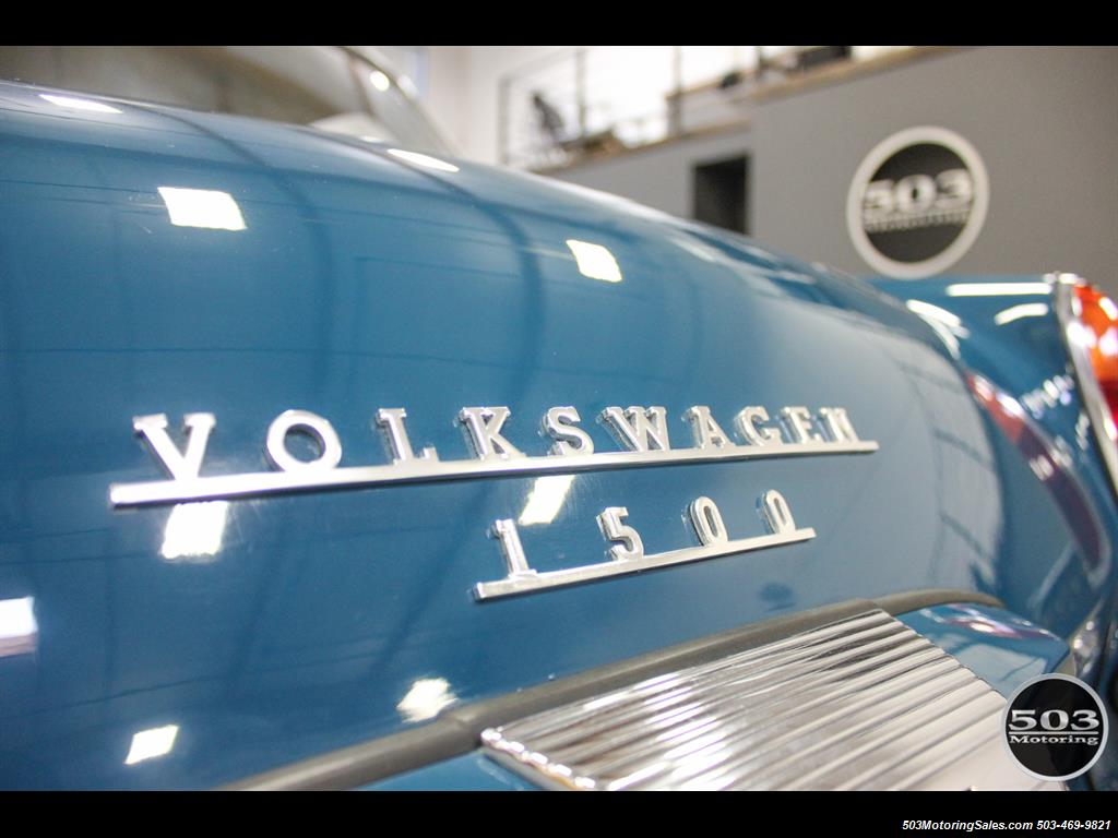 1965 Volkswagen Notchback Collector Quality Example in Sea Blue - Photo 18 - Beaverton, OR 97005