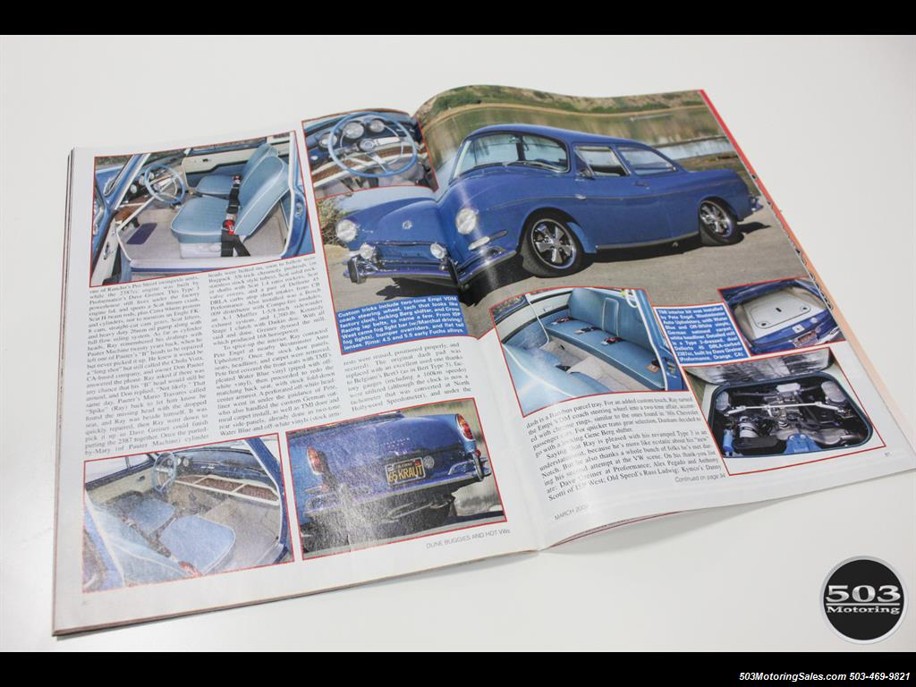1965 Volkswagen Notchback Collector Quality Example in Sea Blue - Photo 58 - Beaverton, OR 97005
