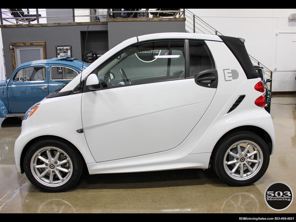 2017 Smart Fortwo Pion Electric Cabriolet White Black Loaded Photo 2