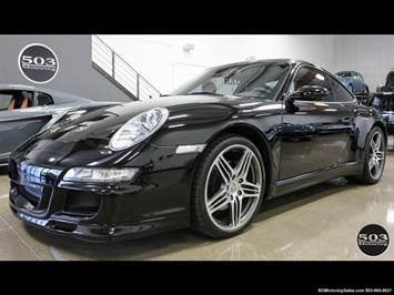 2007 Porsche 911 Carrera 4; MANUAL! Black/Black w/ Factory Aerokit! Coupe
