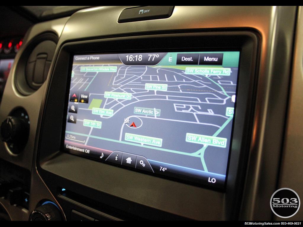 2014 Ford F 150 Svt Raptor Black W Only 18k Miles Navigation Radio