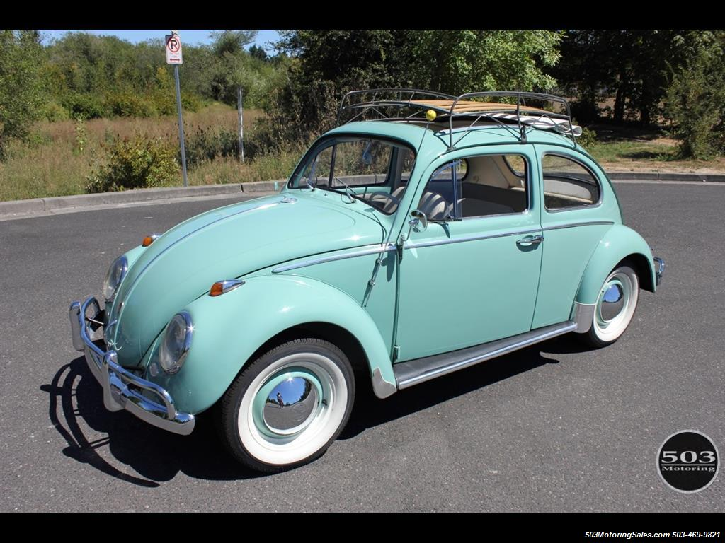 1963 Volkswagen Beetle Clic Ragtop Photo 1 Beaverton Or 97005