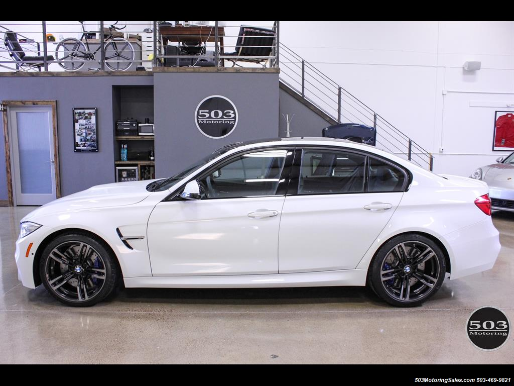 2016 Bmw M3 Like New In Alpine White Black W Only 2 150 Miles