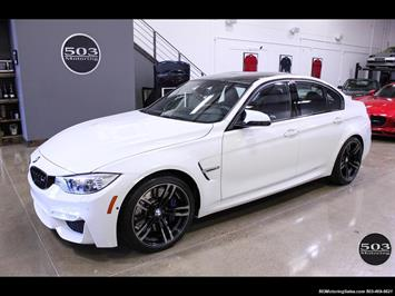 2016 BMW M3 Like New in Alpine White/Black w/ Only 2,150 Miles Sedan
