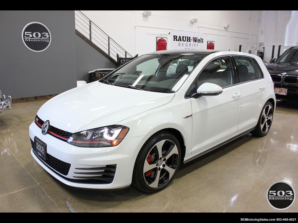 2017 Volkswagen Golf Gti Se White Black W Only 2k Miles