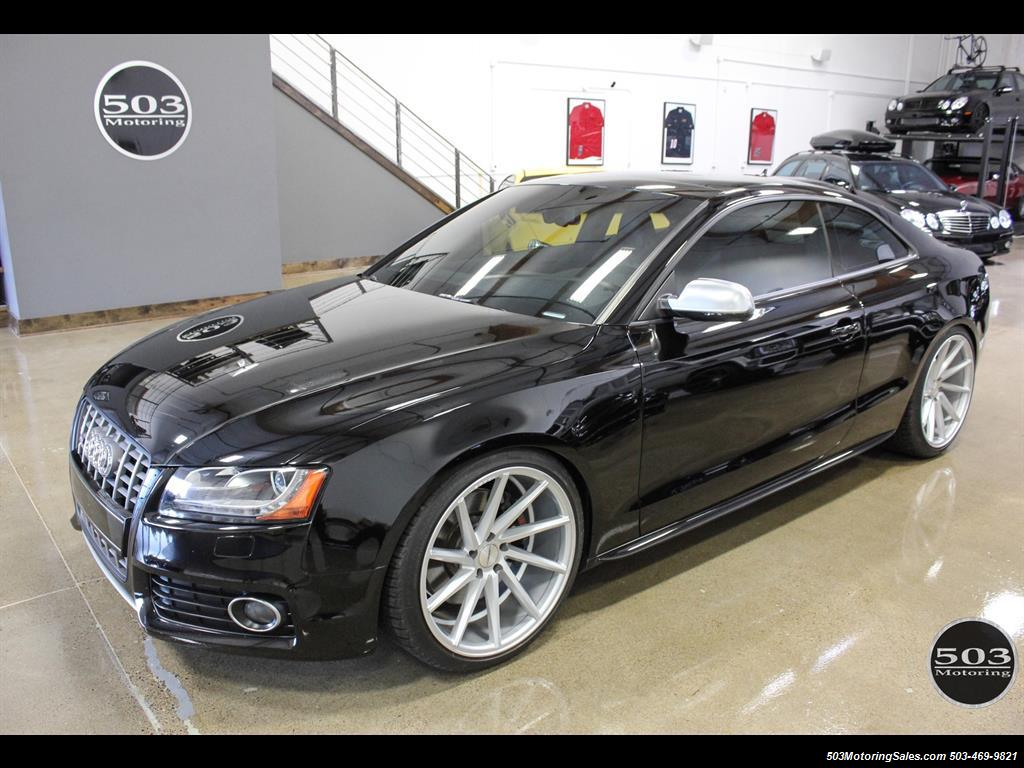 2012 Audi S5 4 2 Quattro Premium Plus  Black  Black W   Only