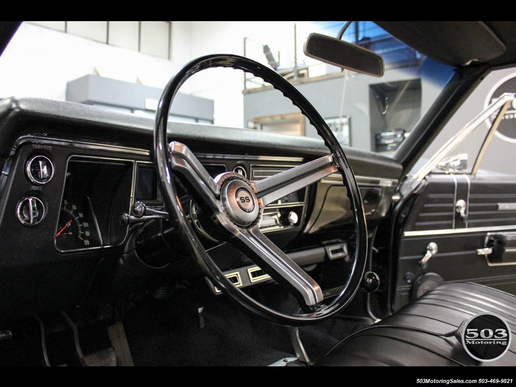1968 Chevrolet Chevelle SS 396; Black/Black Stunning Restomod! - Photo 29 - Beaverton, OR 97005