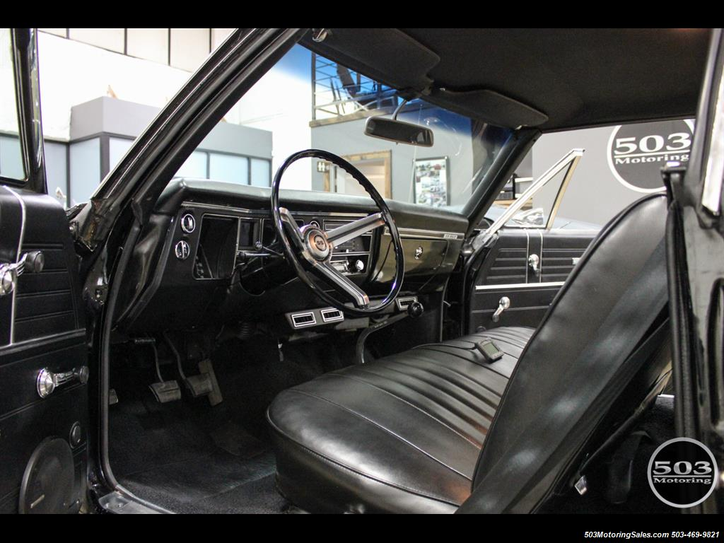 1968 Chevrolet Chevelle SS 396; Black/Black Stunning Restomod! - Photo 28 - Beaverton, OR 97005