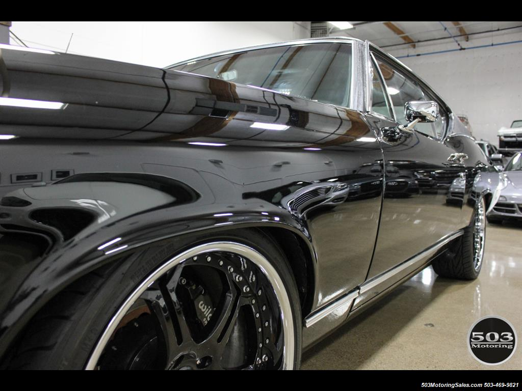 1968 Chevrolet Chevelle SS 396; Black/Black Stunning Restomod! - Photo 17 - Beaverton, OR 97005