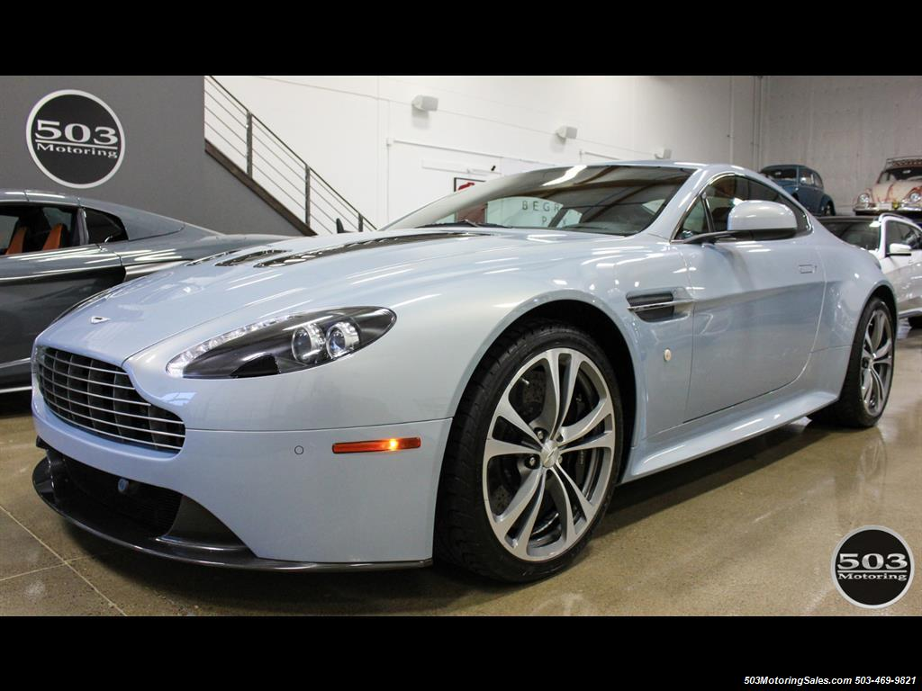 2011 aston martin v12 vantage 6-speed manual, mako blue/black!