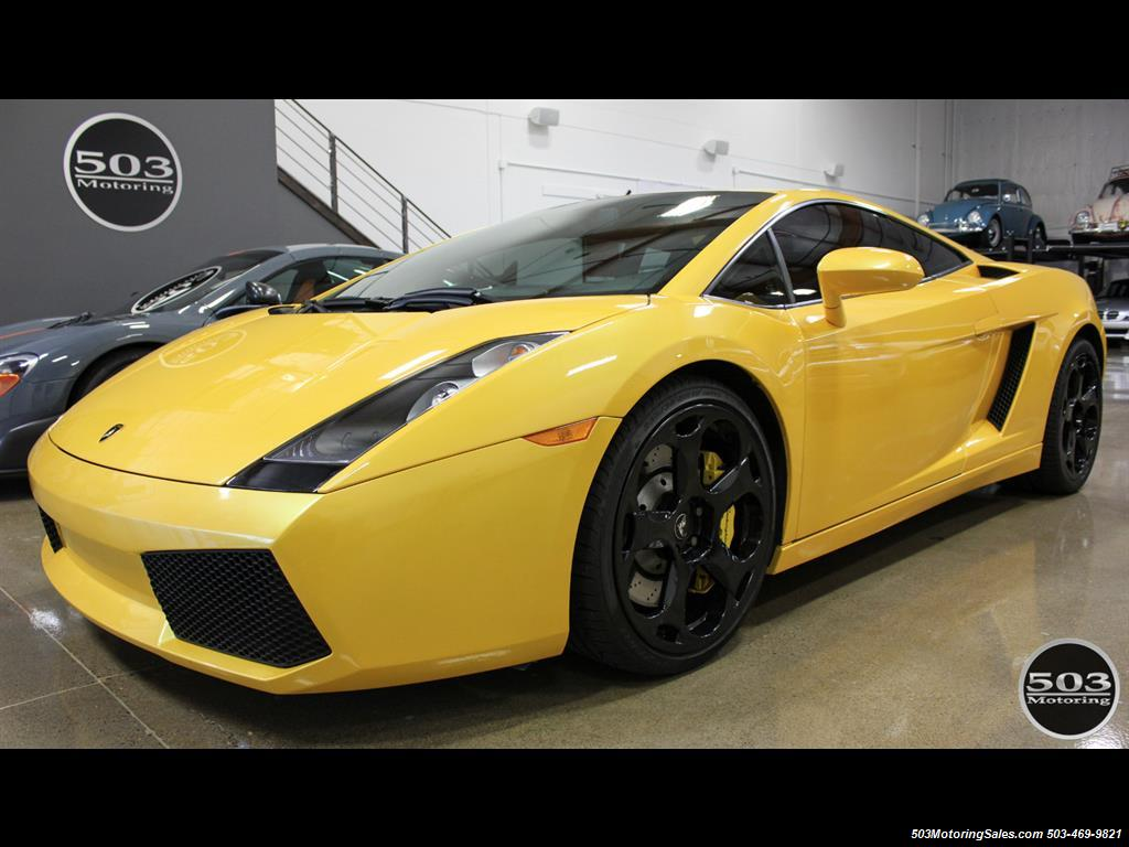 2004 Lamborghini Gallardo Yellow Black 6 Speed Manual W 21k Miles