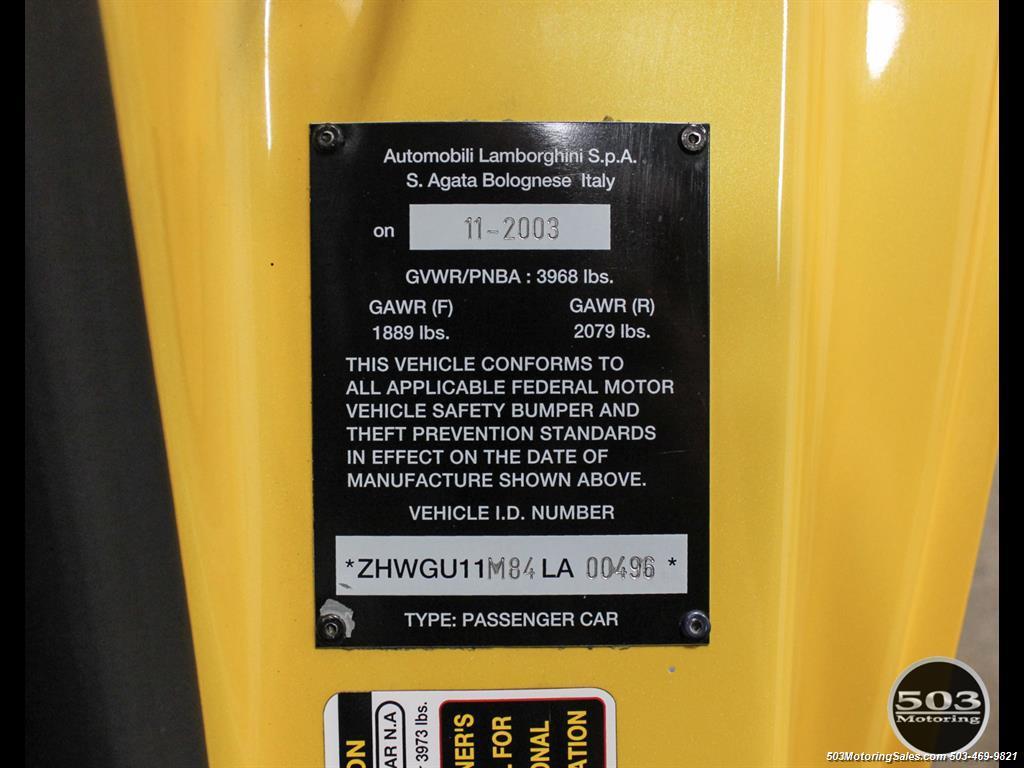 2004 Lamborghini Gallardo Yellow/Black 6-Speed Manual w/ 21k Miles! - Photo 57 - Beaverton, OR 97005