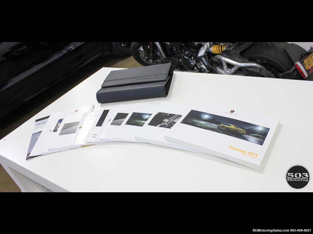 2016 Porsche Cayman GT4; Black w/ Full Buckets & Only 895 Miles! - Photo 56 - Beaverton, OR 97005