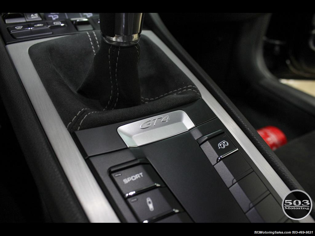 2016 Porsche Cayman GT4; Black w/ Full Buckets & Only 895 Miles! - Photo 41 - Beaverton, OR 97005