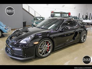 2016 Porsche Cayman GT4; Black w/ Full Buckets & Only 895 Miles! Coupe