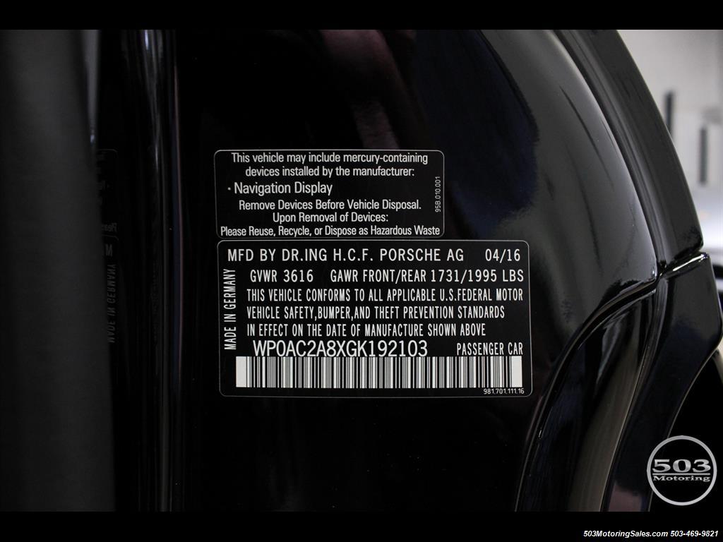 2016 Porsche Cayman GT4; Black w/ Full Buckets & Only 895 Miles! - Photo 59 - Beaverton, OR 97005