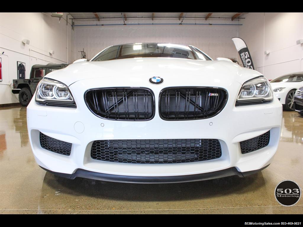 2016 bmw m6 gran coupe white competition pack 1 5k miles photo