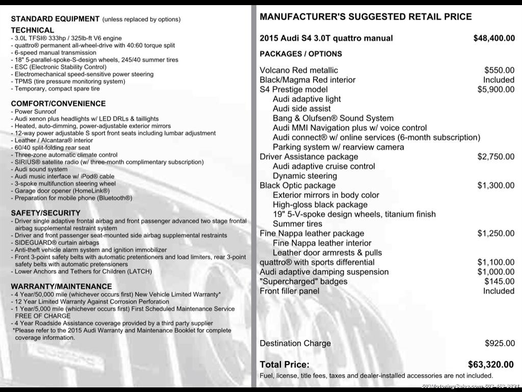2015 Audi S4 3.0T quattro Prestige; Manual, Loaded w/ 15k Miles - Photo 53 - Beaverton, OR 97005