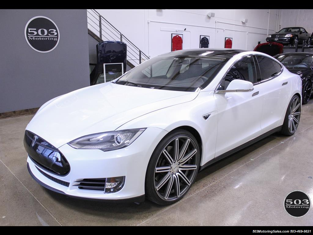 Tesla Model S Performance Excellent One Owner In Pearl White - 2013 tesla model s for sale
