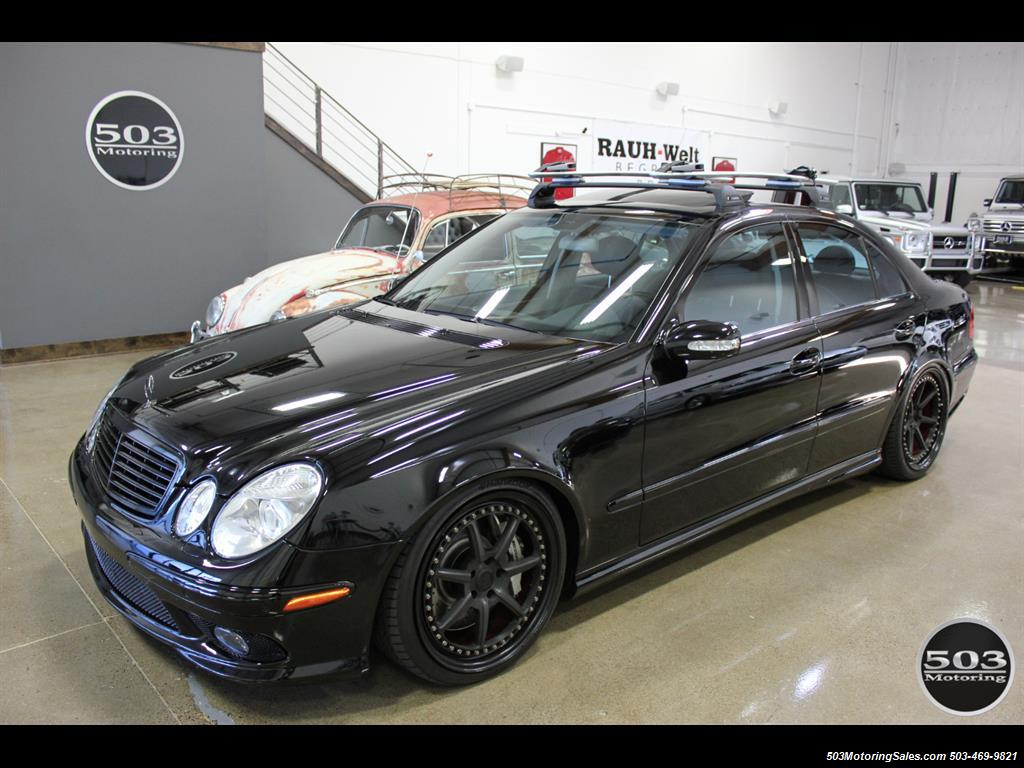 2006 mercedes benz e55 amg immaculate black black w only 35k miles. Black Bedroom Furniture Sets. Home Design Ideas