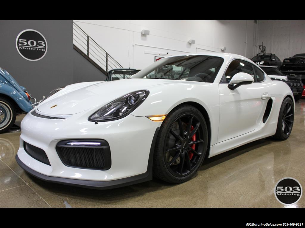 2016 Porsche Cayman GT4; White w/ Full Bucket Seats & 3k Miles! - Photo 1 - Beaverton, OR 97005