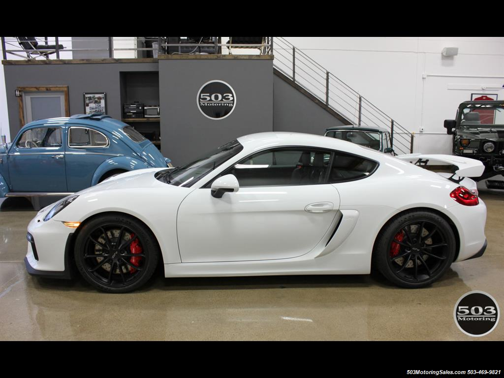 2016 porsche cayman gt4 white w full bucket seats 3k miles. Black Bedroom Furniture Sets. Home Design Ideas