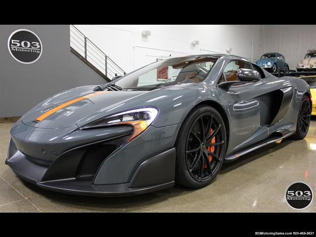 2016 McLaren 675LT Spider; Perfectly Specced Chicane Gray