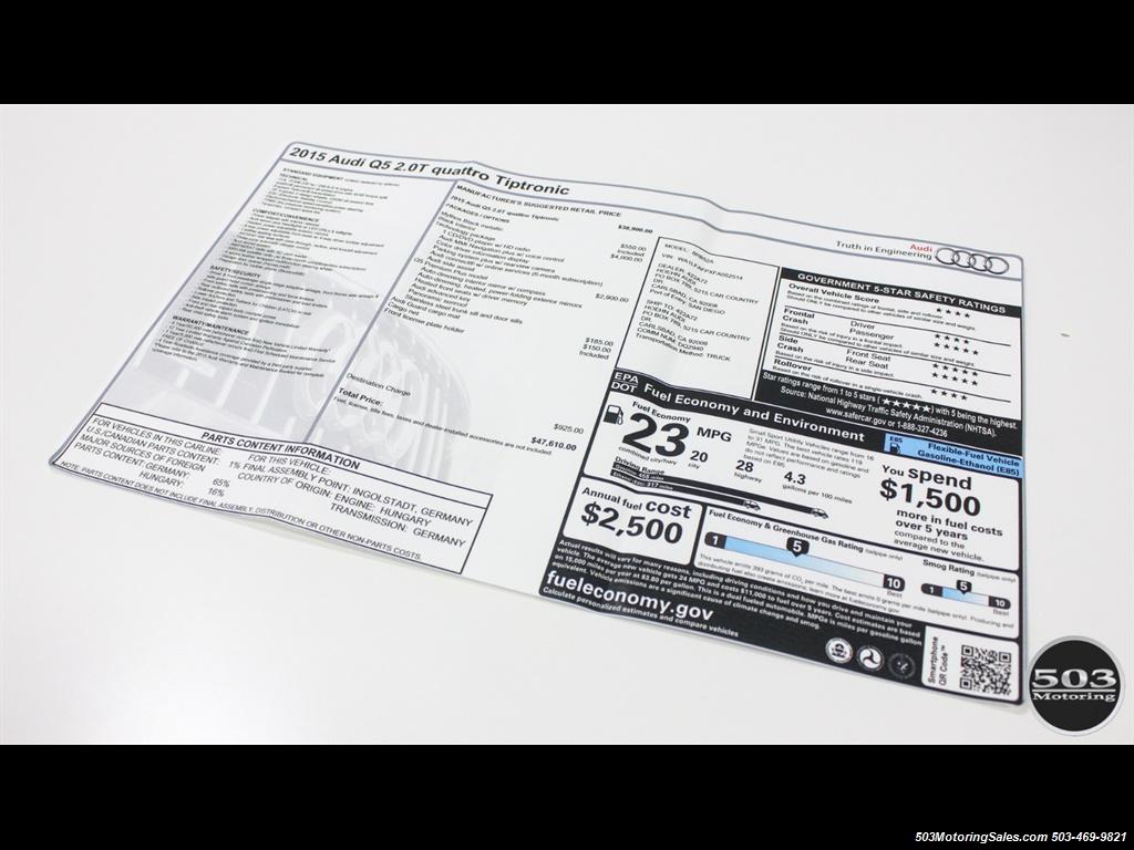 2015 Audi Q5 2.0T quattro Premium Plus; Black/Black w/ 23k! - Photo 51 - Beaverton, OR 97005