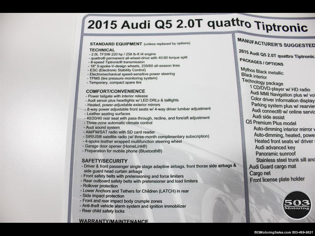 2015 Audi Q5 2.0T quattro Premium Plus; Black/Black w/ 23k! - Photo 54 - Beaverton, OR 97005