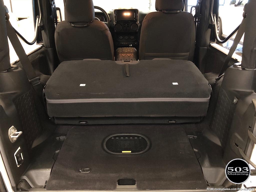 2017 Jeep Wrangler Sport Willys Rear Seat