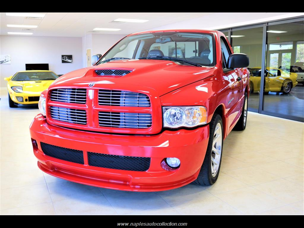 2005 dodge ram pickup 1500 srt 10 2dr regular cab for sale in naples fl stock 776932. Black Bedroom Furniture Sets. Home Design Ideas